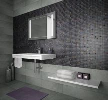 Mozaik ploščice črne