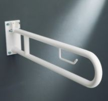 WC Care Folding supporting bar 83 cm w/roll holder