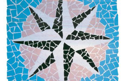 Klinker mozaik ploščice Exagres Rosa de los Vientos
