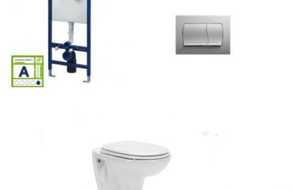 Podometni kotliček in WC školjka set Aveiro