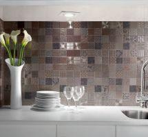 Kuhinjske ploščice mozaik Metal
