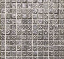 Dekorativni stekleni mozaik Pandora Silver